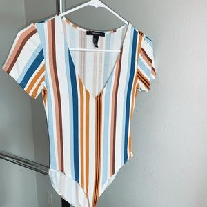 NWOT striped bodysuit